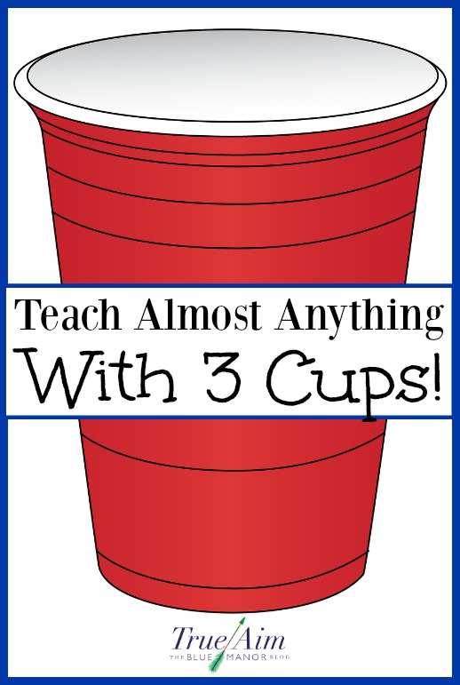 Teach your child anything with just 3 cups!