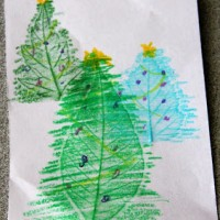 Christmas Crafts for Kids: Handmade Christmas Tree Cards