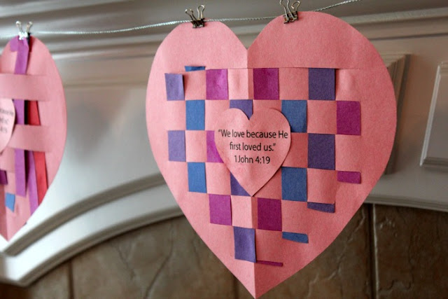 God Loves You Construction Paper Craft
