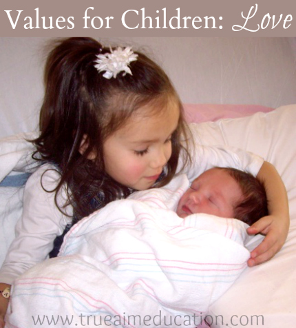values for children, love