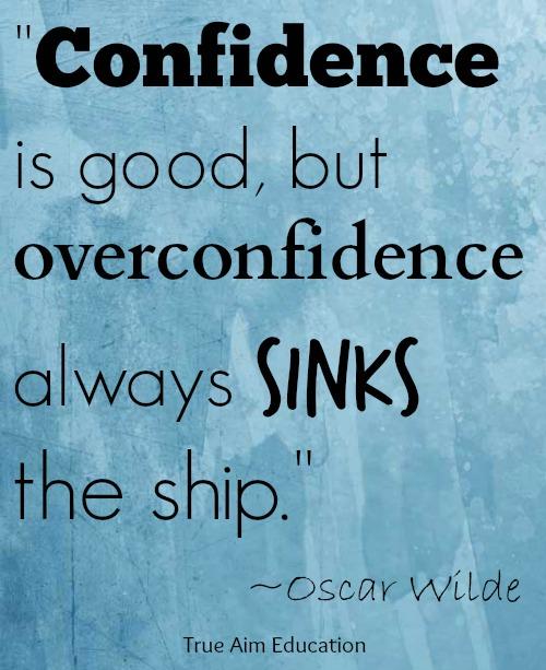 overconfidence quote