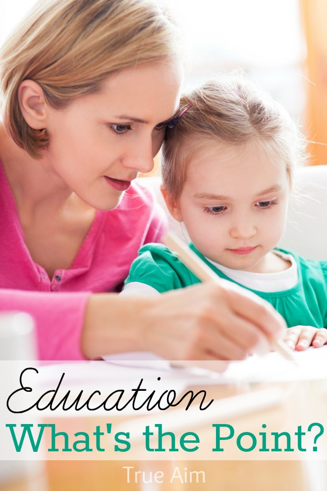 What is the purpose of Education? Long before any teaching takes place we must decide what we want to accomplish. Are we merely preparing our children for Jeopardy, or will their education enhance their future lives outside of academia?