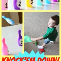 Preschool Math: Knock'em Down Bean Bag Toss