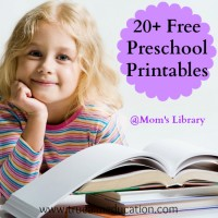 Free Preschool Printables and Mom's Library #48