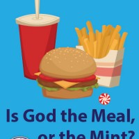 Is God the Meal or the Mint?