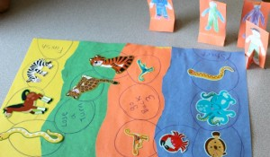 animal activities for kids, diy animal habitat board game