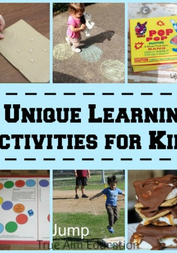 Unique learning activities including chalk games, free printable spelling game, fireworks phonics, and more!