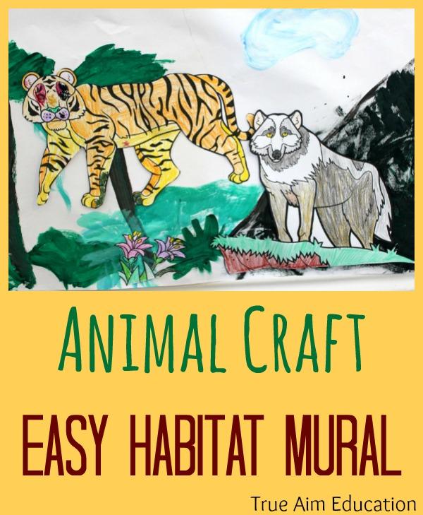 animal craft habitat mural for kids   summer camp at home