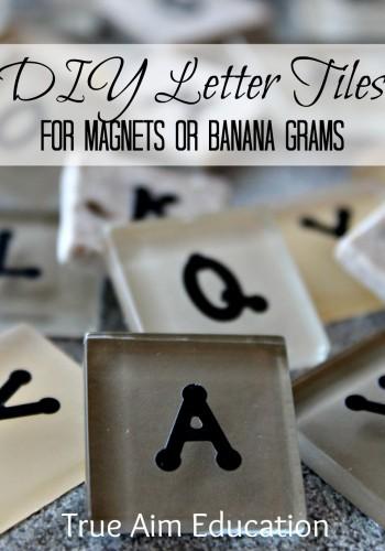 DIY Bananagrams: Letter Tiles