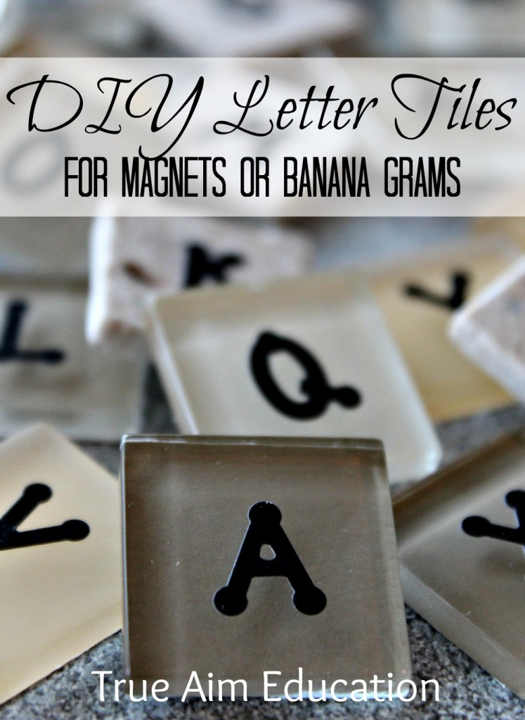 diy bananagrams, letter tiles