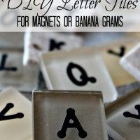 DIY Bananagrams: Letter Tiles