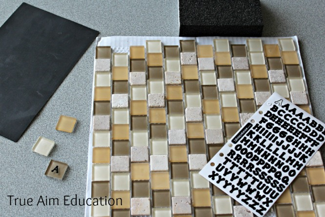 diy bananagrams letter tiles