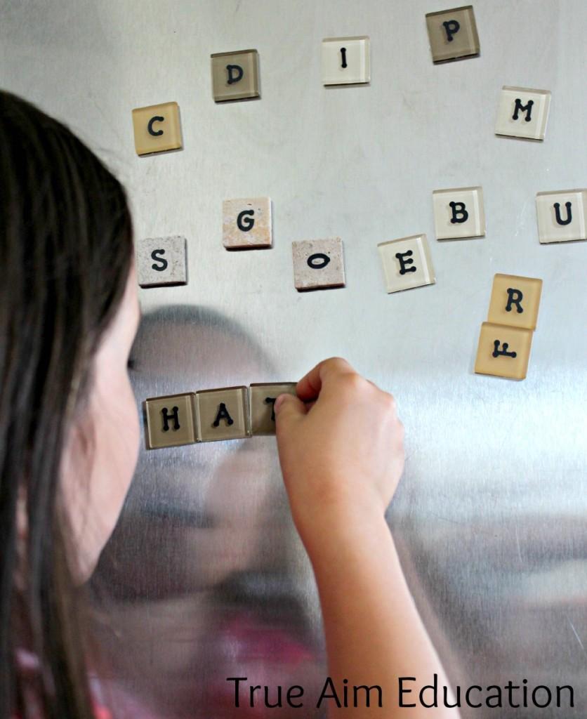 diy letter tiles magnets