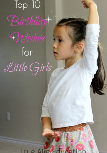 10 birthday wishes for little girls