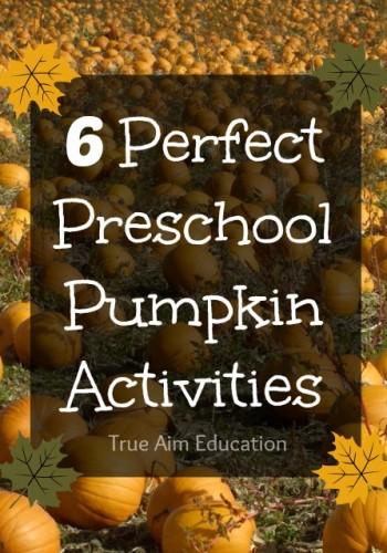 6 preschool pumpkin activities