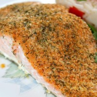 Cooking with Kids: Baked Herb Crusted Salmon