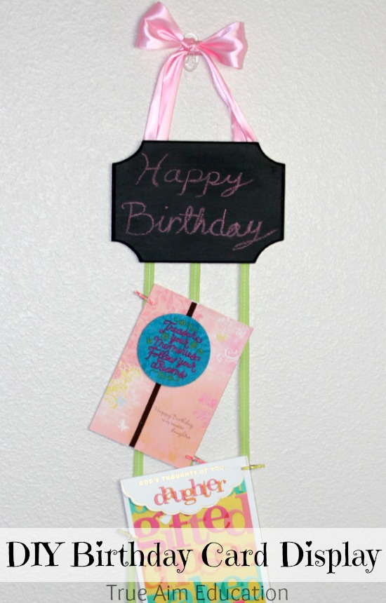 DIY Birthday Card Holder Shop