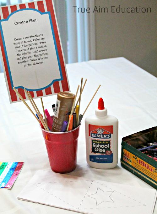 Easy Carnival Flag Craft for kids