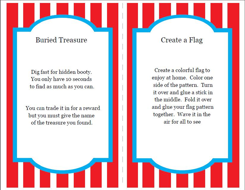Free Carnival Printable invitations and games