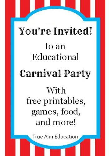 Throw an Educational Carnival Party: Games, Printables, Food!