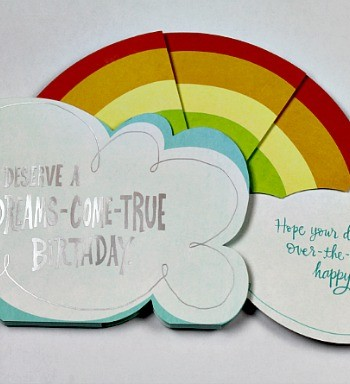 rainbow birthday card display #shop