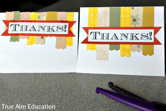 November Family Challenge: Giving Thanks with DIY Thank You Cards