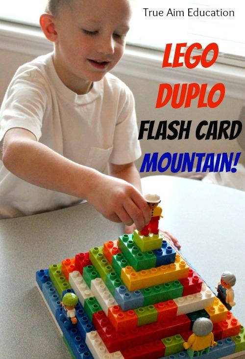 lego duplo flash card game