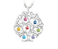 christmas gifts for mom personalized-family-tree-necklace