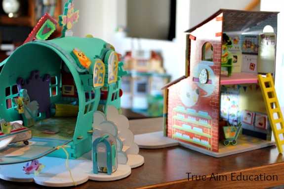 easy crafts for kids play house sets