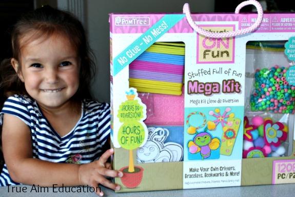 easy crafts for kids, pom tree kids craft set