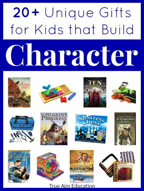 Character building gift guide for kids