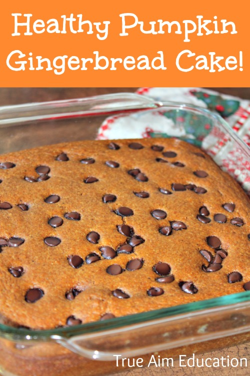 healthy Pumpkin gingerbread cake