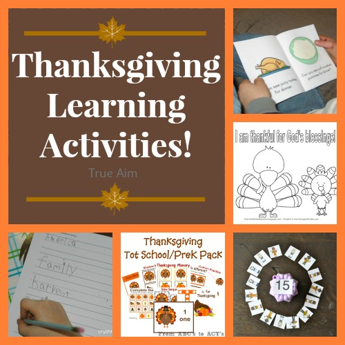 Thanksgiving Learning Activities