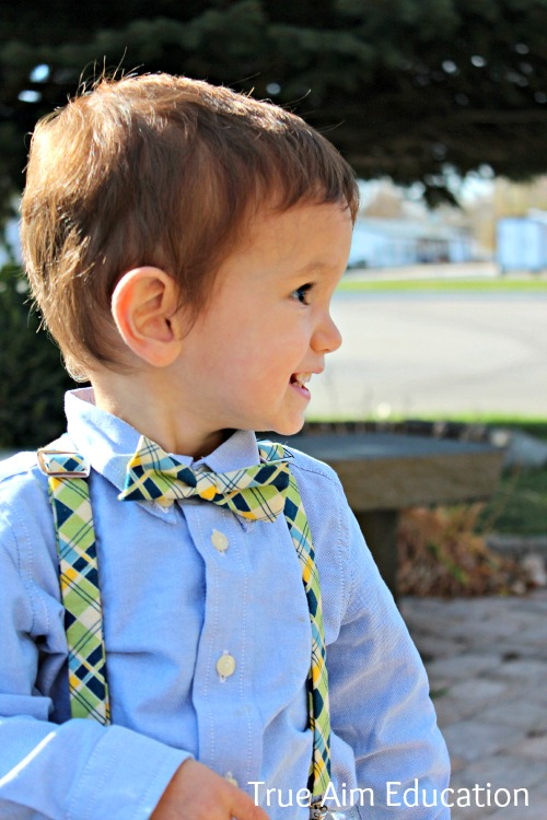 little boy bow ties and suspenders