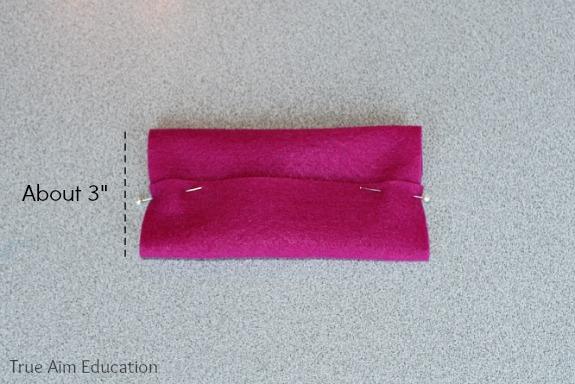 pocket kleenex holder pinned