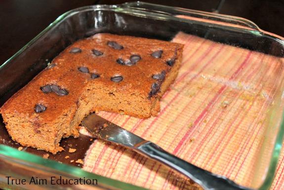 pumpkin gingerbread cake eaten