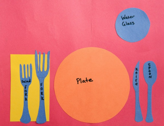 thanksgiving activities for preschoolers, setting the table place mats