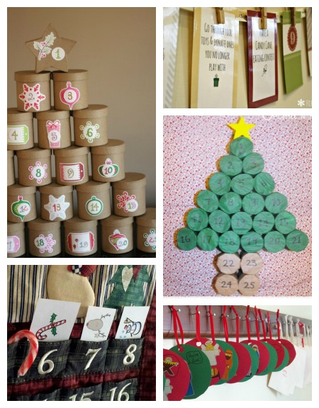 10 diy advent calendar ideas and mom 39 s library 72 true aim for Diy christmas advent calendar ideas