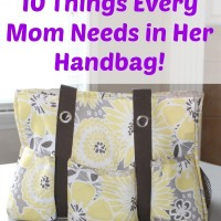 A Thirty-One Giveaway! and 10 Things Every Mom Needs in Her Handbag