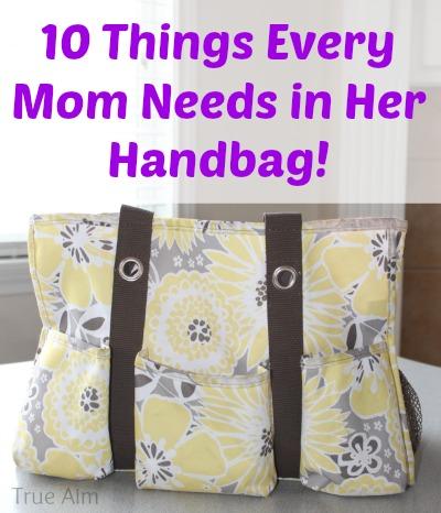 10 things mom needs in her handbag