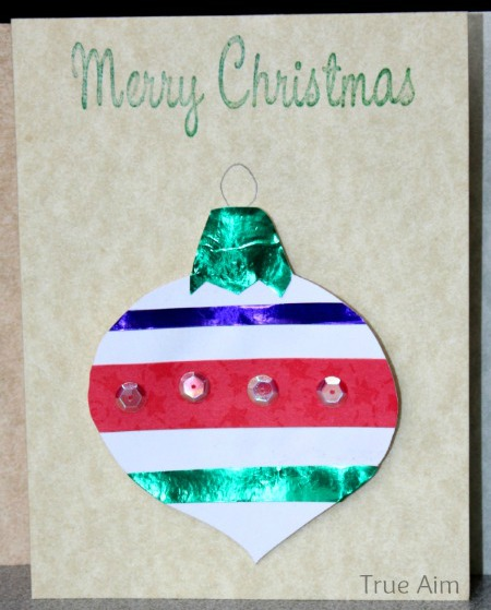 Christmas Crafts for Kids: Handmade Christmas Ornament Cards | True Aim