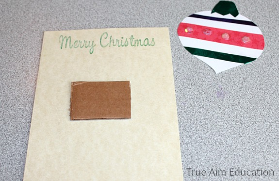 christmas ornament card for kids