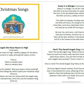 classic christmas songs for kids free printable