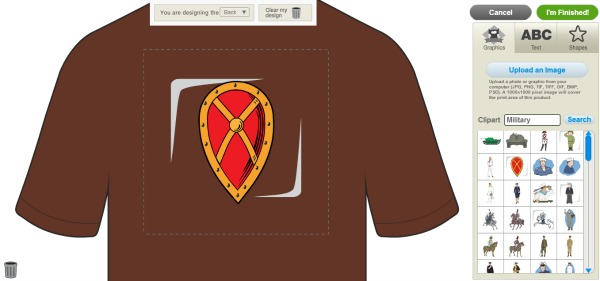 custom t-shirt add graphic