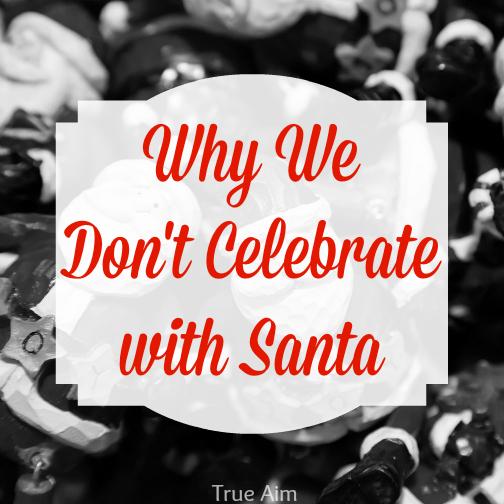 don't celebrate with santa