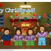 Free LEGO Minifigure Family Holiday Greeting Card!