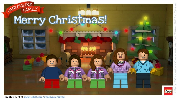 Free lego minifigure family holiday greeting card true aim free lego minifigure greeting card m4hsunfo