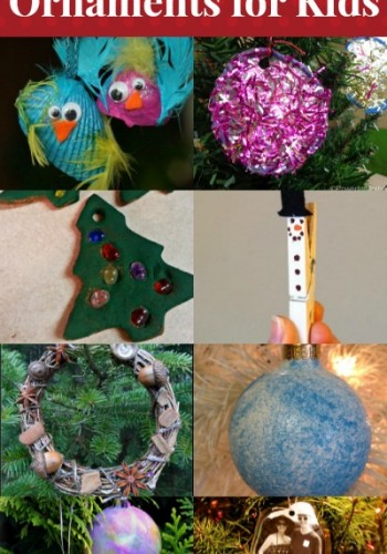 14 Handmade Christmas Ornaments for Kids and Mom's Library #73