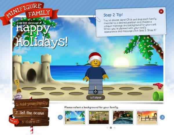 lego minifigure family greeting card