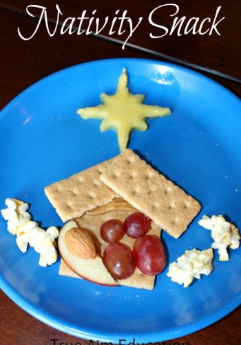 nativity christmas snack